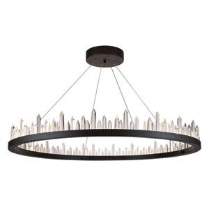 Malta Satin Dark Grey 56-Light LED Chandelier