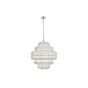 Riviera Chrome 24-Inch 12-Light Chandelier