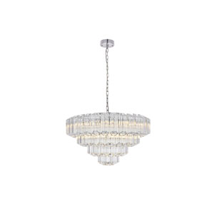 Riviera Chrome 26-Inch Nine-Light Chandelier