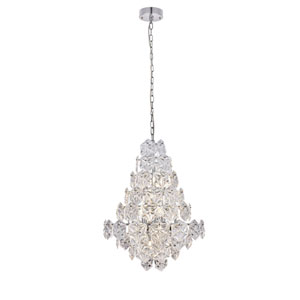 London Chrome 24-Inch 12-Light Chandelier