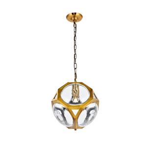 Vega Light Antique Brass 13-Inch One-Light Pendant
