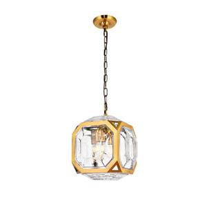 Juno Light Antique Brass 11-Inch Four-Light Pendant
