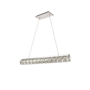 Valetta Chrome 4-Inch LED Island Chandelier with Clear Royal Cut Crystal