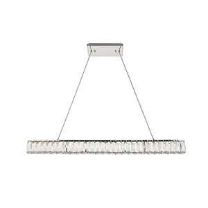 Monroe Chrome 38-Inch LED Chandelier