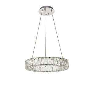 Monroe Chrome 17-Inch LED Pendant