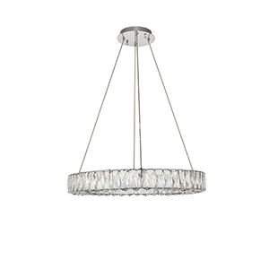 Monroe Chrome 26-Inch LED Chandelier