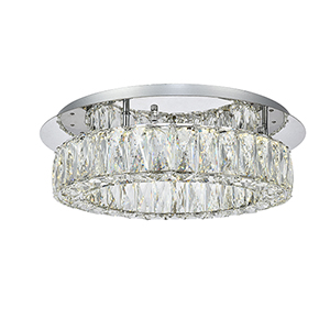 Monroe Chrome 17-Inch LED Flush Mount