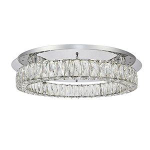 Monroe Chrome 25-Inch LED Flush Mount