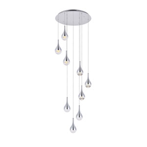 Amherst Chrome Nine-Light LED Pendant