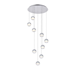 Diego Chrome Nine-Light LED Pendant