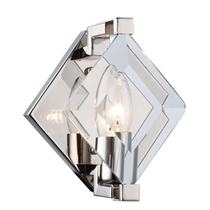 Endicott Polished Nickel Six-Inch One-Light Wall Sconce