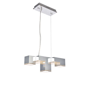Glasgow Chrome Five-Light LED Island Pendant