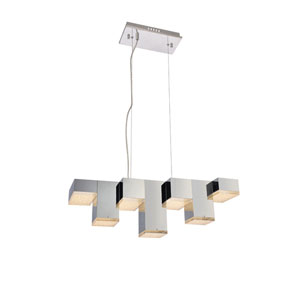 Glasgow Chrome Seven-Light LED Island Pendant