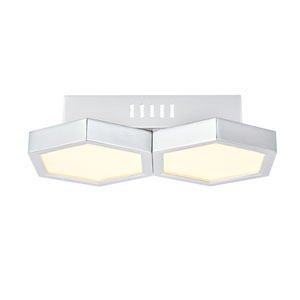 Hampton Chrome Seven-Inch Two-Light LED Flush Mount