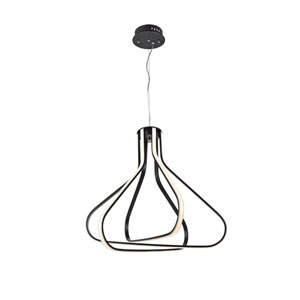 Dahlia Black 27-Inch Three-Light LED Pendant