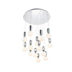 Lea Chrome 14-Light LED Pendant