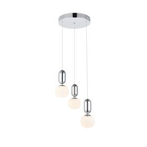Lea Chrome Three-Light LED Pendant