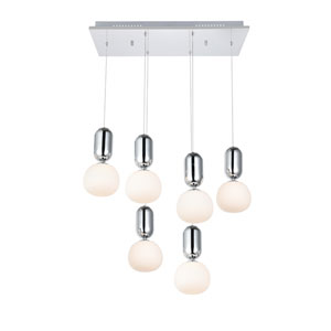 Lea Chrome Six-Light LED Pendant
