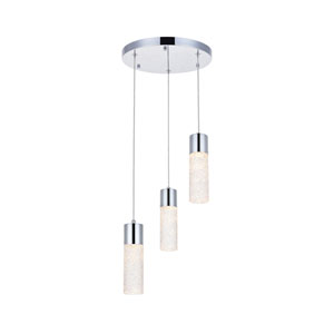 Constellation Chrome 12-Inch Three-Light LED Pendant