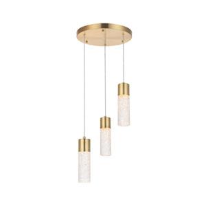 Constellation Gold 12-Inch Three-Light LED Pendant
