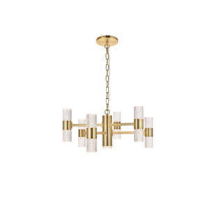 Vega Gold 13-Light LED Pendant