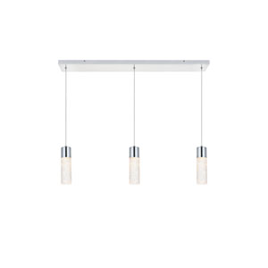 Constellation Chrome 36-Inch Three-Light LED Pendant