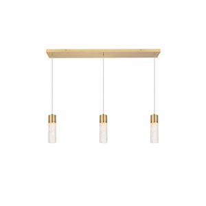 Constellation Gold 36-Inch Three-Light LED Pendant
