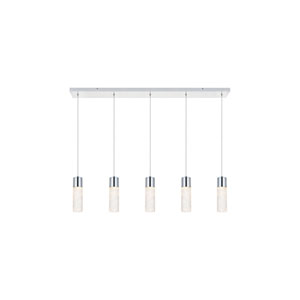 Constellation Chrome Five-Light LED Pendant