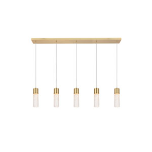 Constellation Gold Five-Light LED Pendant