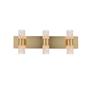 Vega Gold 24-Inch Six-Light LED Bath Vanity