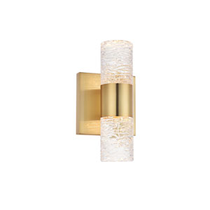 Vega Gold Five-Inch Two-Light LED Wall Sconce