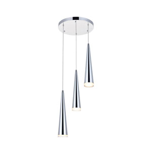Fantasia Chrome 12-Inch Three-Light LED Pendant