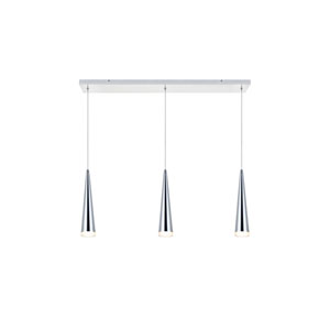 Fantasia Chrome 36-Inch Three-Light LED Pendant
