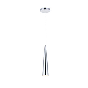 Fantasia Chrome 5-Inch LED Mini Pendant