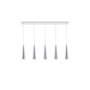 Fantasia Chrome Five-Light LED Pendant