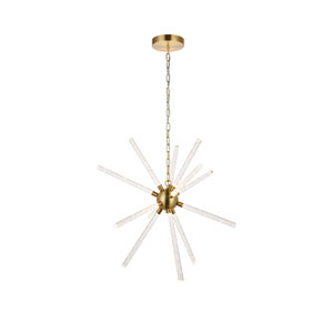 Vega Gold 34-Inch 12-Light LED Pendant