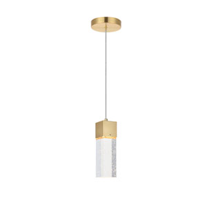 Nova Stella Gold 5-Inch LED Mini Pendant