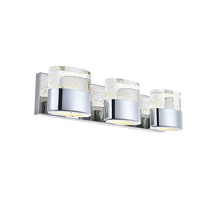 Pollux Chrome 19-Inch Three-Light LED Bath Vanity