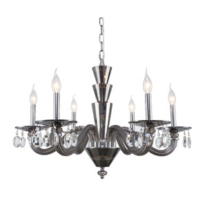 Augusta Silver Shade 30-Inch Six-Light Chandelier