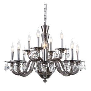 Augusta Silver Shade 32-Inch 12-Light Chandelier