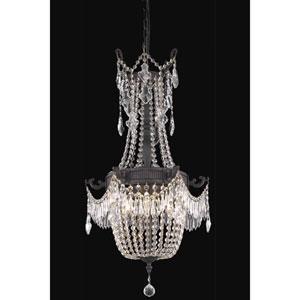 Esperanza Dark Bronze with Clear Elegant Cut Crystal 18-Inch Six-Light Pendant
