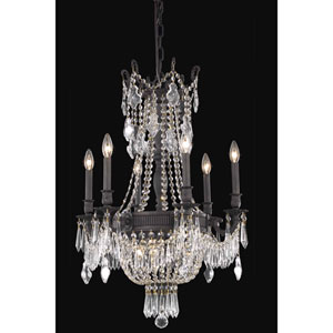 Esperanza Dark Bronze Nine-Light Chandelier with Clear Elegant Cut Crystal