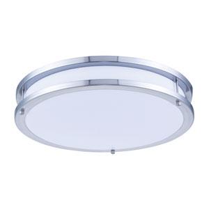 Ripple Brushed Nickel 16-Inch 3000K LED Flush Mount