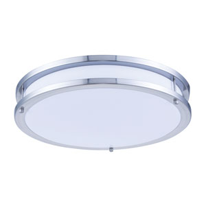 Ripple Brushed Nickel 16-Inch 5000K LED Flush Mount