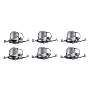 Housing Silver 10-Inch Non-Insulated Contact Housing, Pack of Six