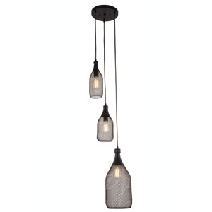 Valo Black Three-Light Pendant