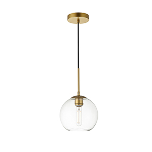 Baxter Brass Seven-Inch One-Light Mini Pendant