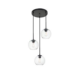 Baxter Black 18-Inch Three-Light Pendant