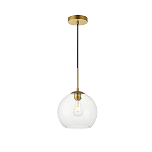 Baxter Brass Nine-Inch One-Light Mini Pendant