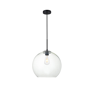 Baxter Black 13-Inch One-Light Pendant